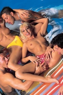 Mona Green & Monica Moore, Orgy in the Swimming Pool-3