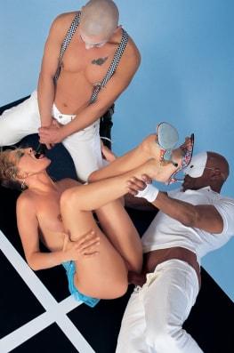 Claudia Claire & Vanessa, Cocwork 3some-4